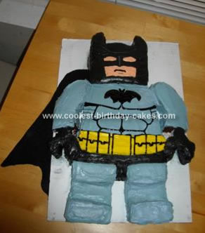 Homemade LEGO Batman Cake