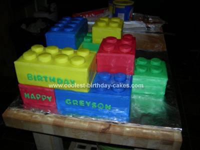 Homemade Lego Birthday Cake