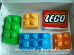 Homemade Lego Birthday Cake