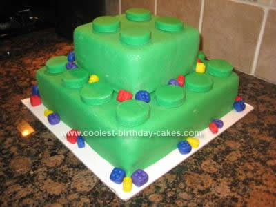 Homemade Lego Birthday Cake Idea