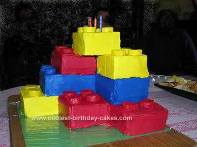 Homemade Lego Birthday Cake Idea