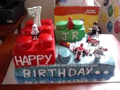 Homemade Lego Cake