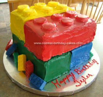 Homemade Lego Cake and Candies