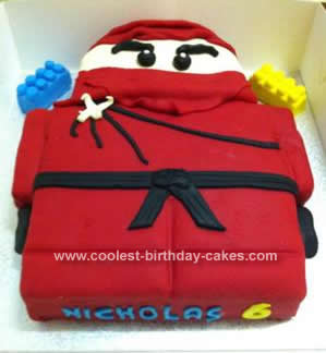 Homemade Lego Ninjago Birthday Cake