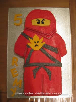 Homemade  Lego Ninjago Cake