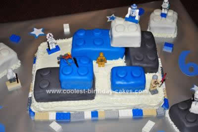 Homemade Lego Star Wars Birthday Cake