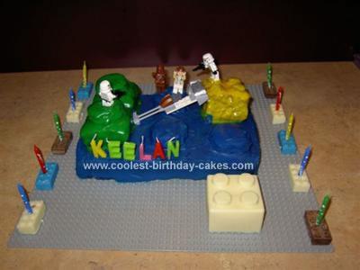 Homemade Lego Star Wars Cake