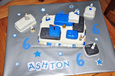 Homemade Lego Star Wars Cake Design