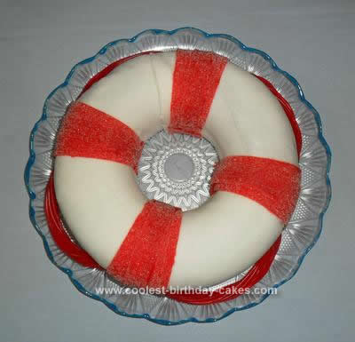 Homemade Life Buoy Cake