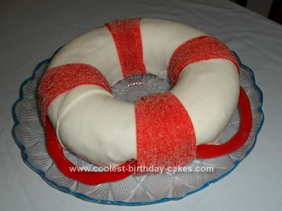 Homemade Life Buoy Cake