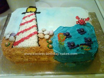 Homemade Lighthouse Cake