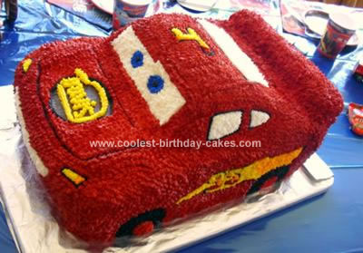Swell Coolest Lightning Mcqueen Birthday Cake Personalised Birthday Cards Veneteletsinfo