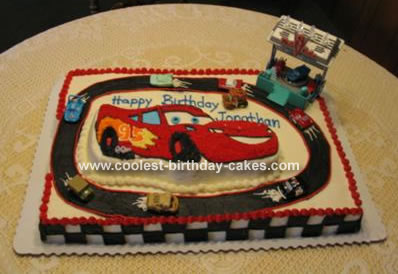 Fine Coolest Lightning Mcqueen Cake Personalised Birthday Cards Cominlily Jamesorg