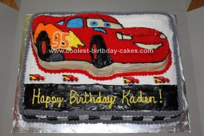 Magnificent Coolest Lightning Mcqueen Cake Personalised Birthday Cards Paralily Jamesorg