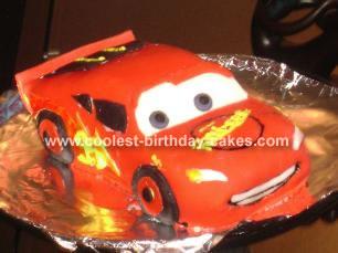 Robbie's Lightning Mcqueen Cake