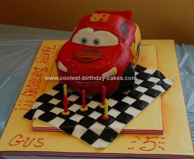 Himemade Lightning McQueen Cake