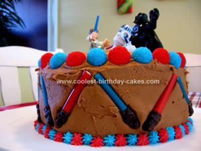 Sensational Cool Homemade Lightsaber Birthday Cake Funny Birthday Cards Online Sheoxdamsfinfo