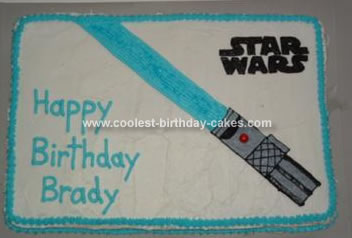 Homemade Lightsaber Birthday Cake