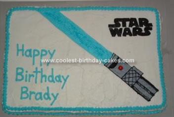 Homemade Lightsaber Birthday Cake