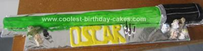 Homemade Lightsabre Cake Idea