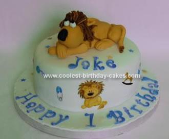 Homemade Lion Birthday Cake