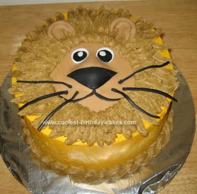 Homemade Lion Birthday Cake
