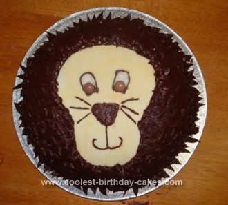 Astounding Coolest Lion Birthday Cake Personalised Birthday Cards Paralily Jamesorg