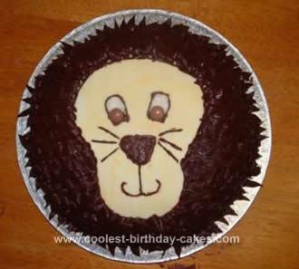 Brilliant Coolest Lion Birthday Cake Funny Birthday Cards Online Hetedamsfinfo