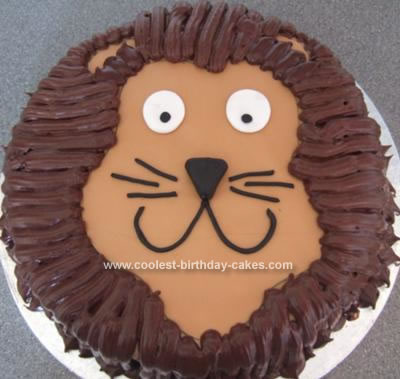 Homemade Lion Cake