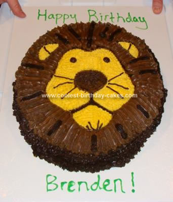 Incredible Coolest Lion Cake Funny Birthday Cards Online Overcheapnameinfo