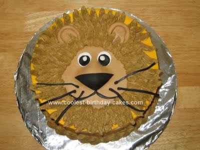 Homemade Lion Cake