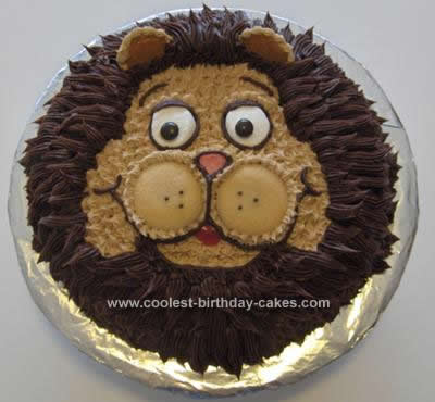 Homemade Lion Cake Design