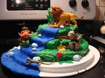 Cool Homemade Lion King Theme Cake