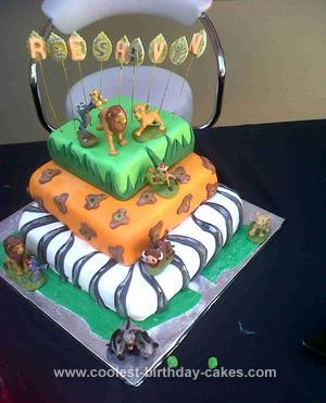 Homemade Lion King Cake