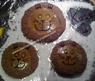 Homemade Lion Pride Birthday Cake