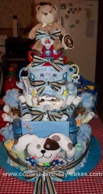 Homemade Little Boy Diaper Cake