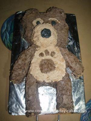 Homemade  Little Charlie Bear Cake