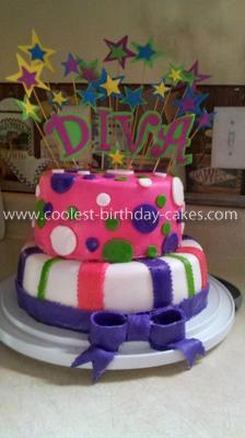 Homemade Little Diva Birthday Cake