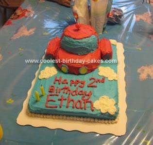 Homemade Little Einstein Rocket Cake