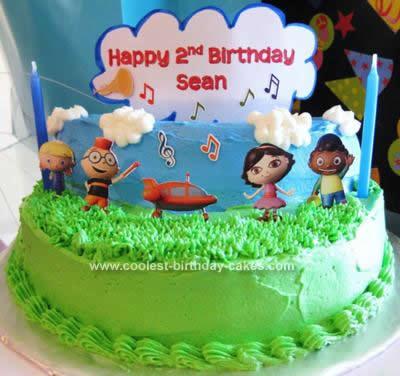 Homemade Little Einsteins Birthday Cake Idea