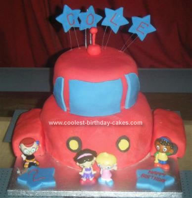 Homemade Little Einsteins Rocket Birthday Cake