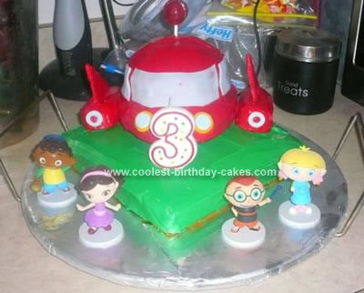 Homemade Little Einsteins Rocket Birthday Cake