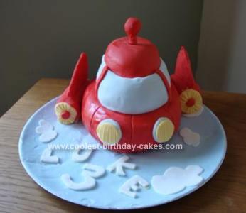 Homemade Little Einsteins Rocket Cake
