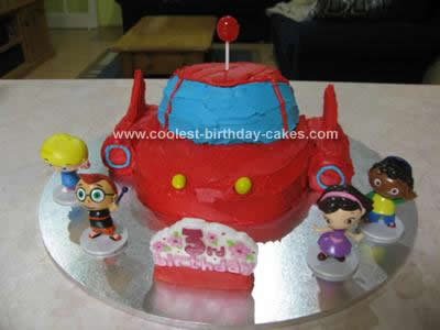 Homemade Little Einsteins Rocket Cake