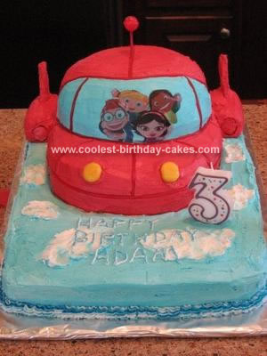 Homemade Little Einsteins Rocket Ship Cake