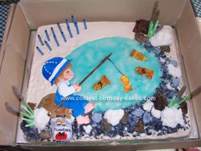 Super Coolest Homemade Fishing Cakes Birthday Cards Printable Trancafe Filternl