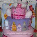 Homemade Little Girls Diaper Cake