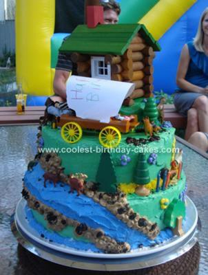 Homemade Little House on the Prarie Cake