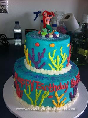 Cool Coolest Little Mermaid Birthday Cake Funny Birthday Cards Online Alyptdamsfinfo