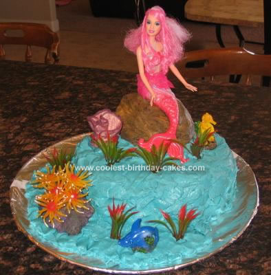 Prime Coolest Little Mermaid Birthday Cake Funny Birthday Cards Online Alyptdamsfinfo